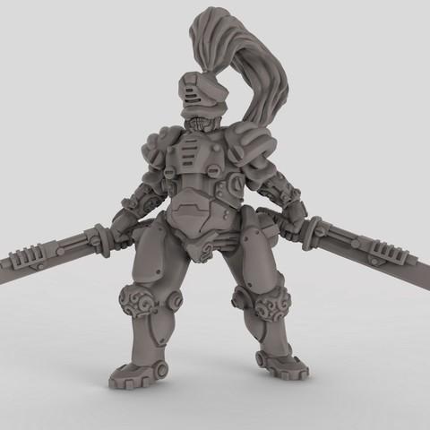 free 3d model robot samurai cults