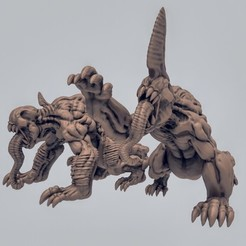 Download free 3D printing templates Hell Hounds, duncanshadow