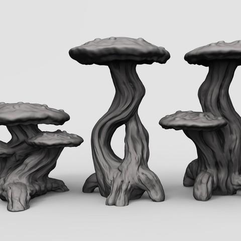 Download free 3D printer designs Mushrooms, duncanshadow