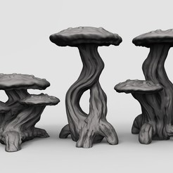 Free STL file Mushrooms, duncanshadow