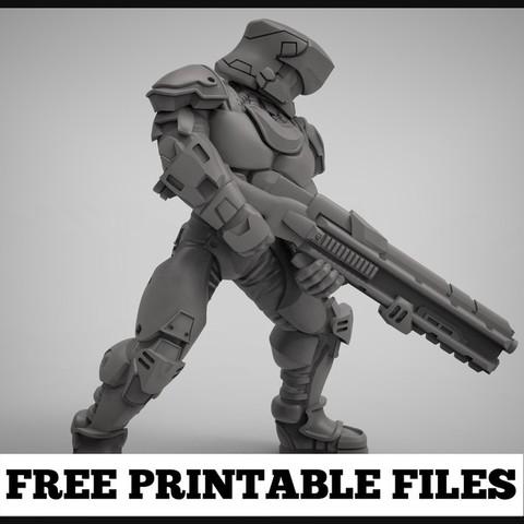 Descargar diseños 3D gratis artillero de ciencia ficción, duncanshadow