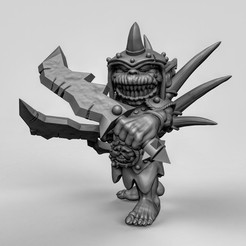 Download free 3D printing templates Goblin leader, duncanshadow