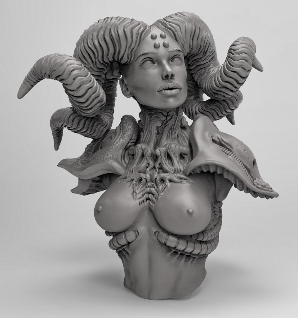 1d028a3e528b386e6aadcff28b4b3adc_display_large.jpg Download free STL file Horned female • 3D printable object, duncanshadow