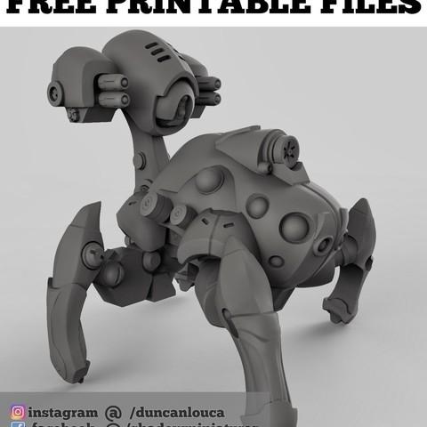 83be257aafbd8d2bf58af3e2eb1230df_display_large.jpg Download free STL file Robot Spider • 3D print design, duncanshadow