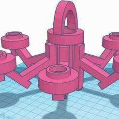ARAÑA DE 6 PATAS.JPG Download STL file CEILING CHANDELIER • 3D printable object, antoniorideraznar
