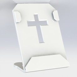 Untitled.JPG Download free STL file Photo holder with cross • Template to 3D print, MEcreative