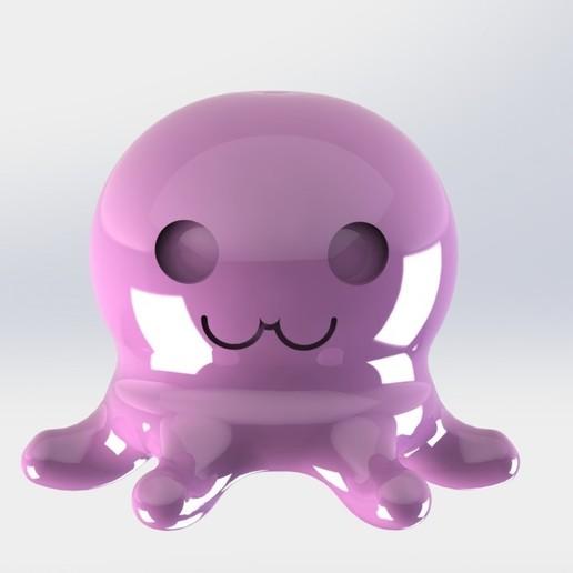 pieuvreFace.JPG Télécharger fichier STL gratuit Poulpy le petit poulpe • Design pour imprimante 3D, MEcreative