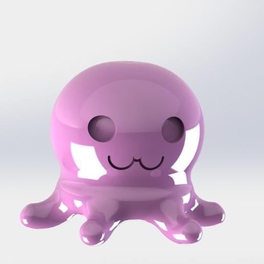 pieuvreCoté.JPG Télécharger fichier STL gratuit Poulpy le petit poulpe • Design pour imprimante 3D, MEcreative