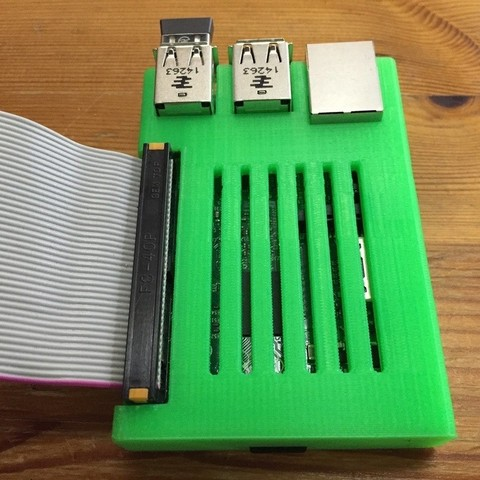 2015-07-23_22.14.15_display_large.jpg Download free STL file Raspberry Pi 2 large GPIO opening with cover • 3D printable object, CVMichael