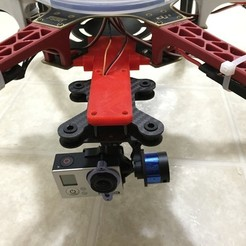 Free 3D printer model Tarot Gimbal on DJI F550, CVMichael