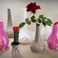 Free 3D print files Pack of vases, Polysculpt