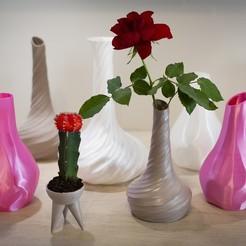 Descargar Modelos 3D para imprimir gratis Pack de jarrones, Polysculpt