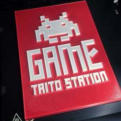 Download free STL file Game Station Taito plate, Polysculpt