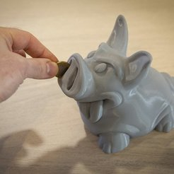 Free 3D printer files Piggy PiggyBank, Polysculpt