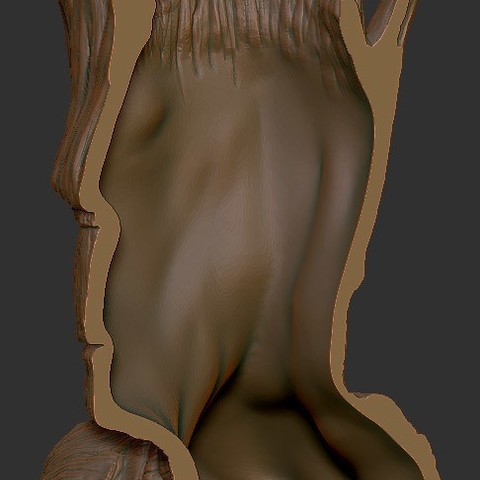 2bb4b2047f8158ea92e04e1ae58e0936_display_large.jpg Download free STL file Grout, Groot's borther • 3D printing template, Polysculpt
