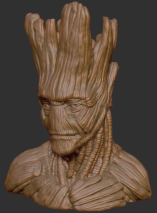 a3d6faa53daddcb76300de649a30322f_display_large.jpg Download free STL file Grout, Groot's borther • 3D printing template, Polysculpt