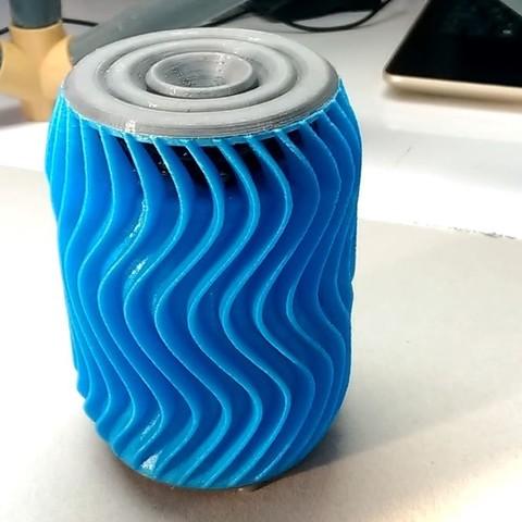 tum3 stlb.jpg Download free STL file Wavy Bluetooth Speaker • 3D printing template, Ahmsville