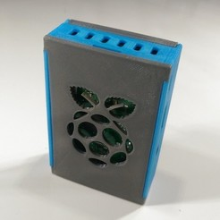 Download STL file Raspberry pi 3 Snap Fit Case • 3D print object, Ahmsville