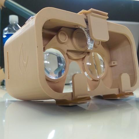 Impresiones 3D gratis 3D Impreso Google Cardboard VR Headset, Ahmsville