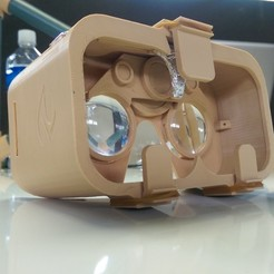 Download free 3D printer files 3D Printed Google Cardboard VR Headset, Ahmsville