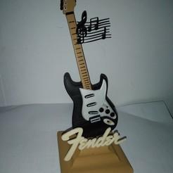Descargar archivos 3D Fender Guitar (HD) - Stand phone - Bi-Extrutions ( 3 colores ), ZebOctets
