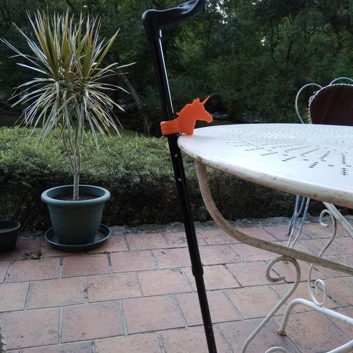 Download free 3D printer designs Support de canne Licorne - Unicorn rod holder, ZebOctets