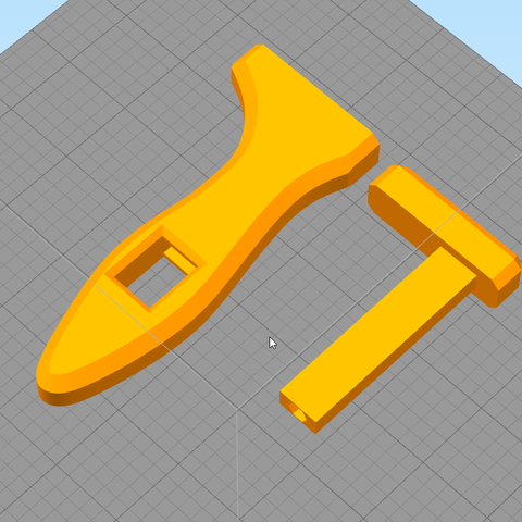 headHandlePreview.png Download free STL file Oldie Wrench • 3D print model, AnsonB