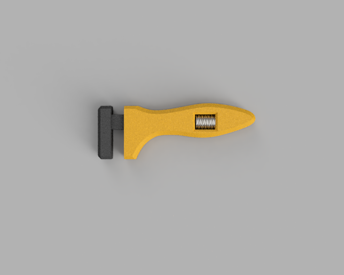topRender.png Download free STL file Oldie Wrench • 3D print model, AnsonB
