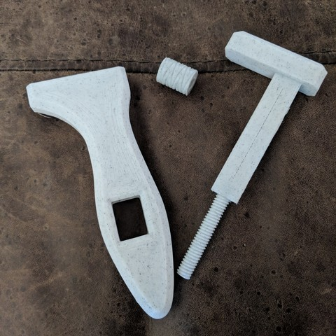 printedUnassembled.jpg Download free STL file Oldie Wrench • 3D print model, AnsonB