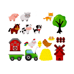 fazenda foto.png Download STL file 17 items Biscuit Cutter dough farm theme - Cow, barn, tractor, cat, ox, horse, chicken, tree, sheep, pig, dog, mill, egg, fenced, fence, farm, farmer, • 3D print template, joathanteles