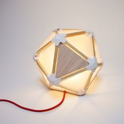 3D printer models ICOSALIGHT, JeremyBarbazaStudio