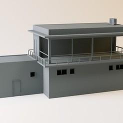 Fichier 3D Poste d'aiguillage moderne HO et N, jeanmichelp