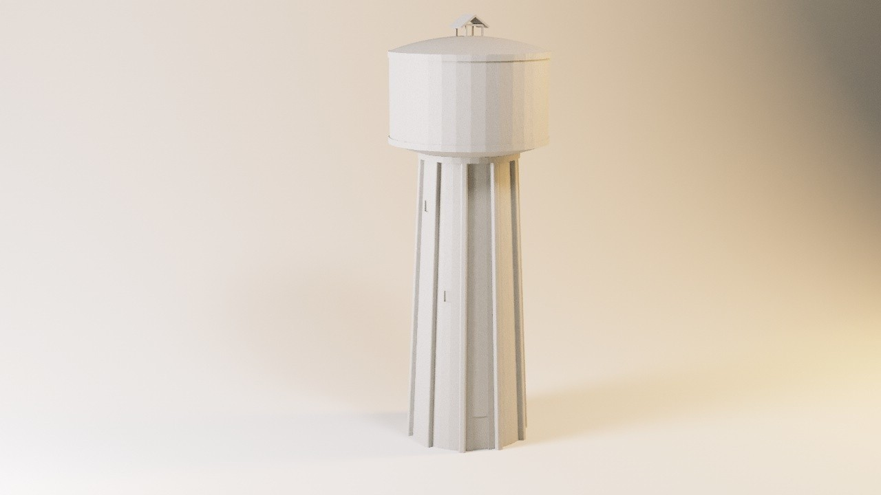 chateau d'eau.jpg Download STL file Concrete water tower HO and N • 3D printable model, jeanmichelp