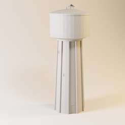 Download STL file Concrete water tower HO and N, jeanmichelp