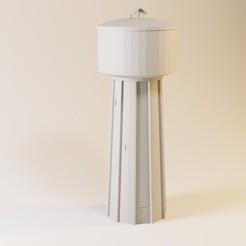 Descargar archivos STL Torre de agua de hormigón HO y N, jeanmichelp