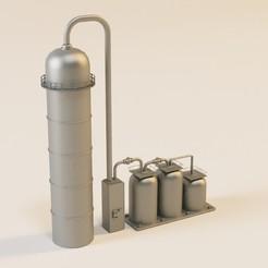 3D print model Gas silo in n for model train, jeanmichelp