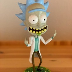 Download 3D printing models Rick Sanchez from Rick and Morty., apfister