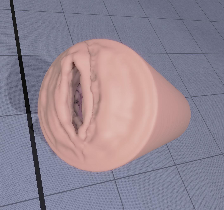 v4.jpg Download STL file male masturbator vagina with texture • 3D printer design, Darkas2