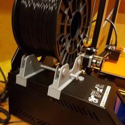 Descargar archivo 3D gratis Portabobinas de filamentos de rodamiento Creality CR-10 actualizado (V7), FenixRunner