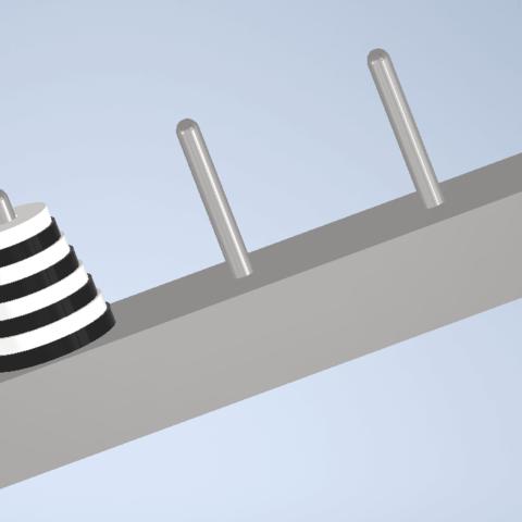 Télécharger fichier STL gratuit Tour de Hanoi • Modèle imprimable en 3D, brusteld