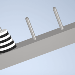 Download free 3D printing designs Tower of Hanoi, brusteld
