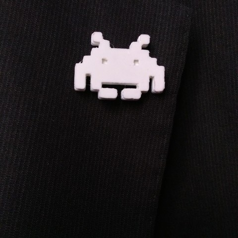 Free stl file Space Invaders lapel pin, sergioinglese