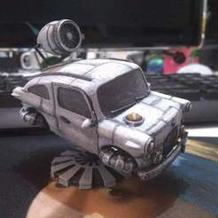 Download free STL files sci-fi car, sergioinglese