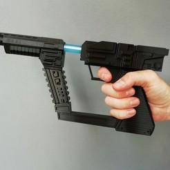 "Descargar diseños 3D gratis ""V"" the ""Visitors"" Laser Gun , nacho3D"