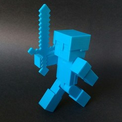 Download free 3D printing templates Minecraft Steve-Alex armor, nacho3D