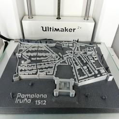 Impresiones 3D gratis Pamplona/Iruña 1512 ciudad fortificada, nacho3D
