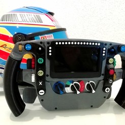 Descargar modelo 3D gratis F1 Mclaren MP4-30 2015 Steering Wheel., nacho3D