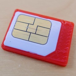 Free 3d printer designs Nexus 7 (2013) (Or Similar) Replacement Micro SIM Tray, alexwhittemore
