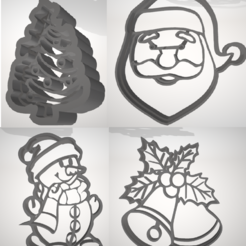 Download 3D printing templates Christmas cookie cutters, emmanuelgnanasekar