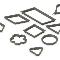 shape cutters.JPG Télécharger fichier STL ensemble de formes mixtes pour moules à biscuits • Objet imprimable en 3D, emmanuelgnanasekar